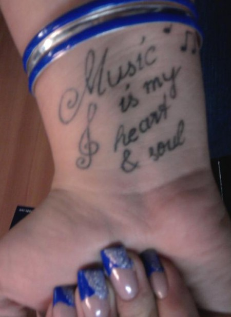 music-Tattoo: Music is...