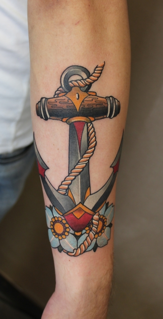 Anker-Tattoo: ANCHOR