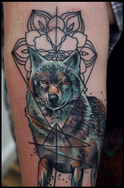 wolf-Tattoo: -WOLF- Detail