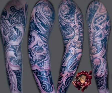 biomech-Tattoo: biomech by Lunatics Custom Tattoos