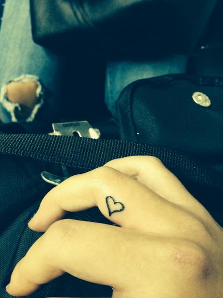 Herz am Finger