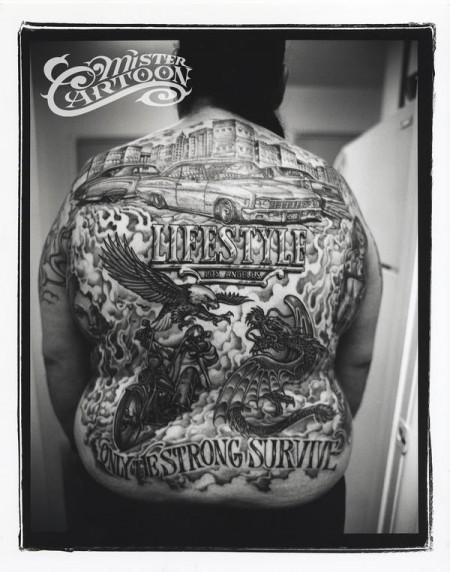 Rücken Tattoo (mann) 2