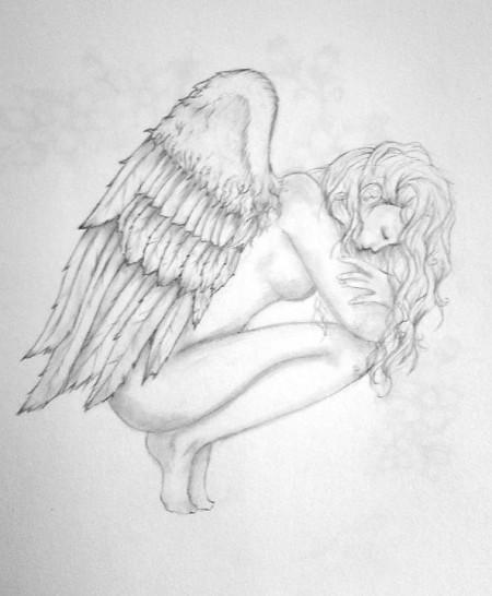 Engel selbst gemalt