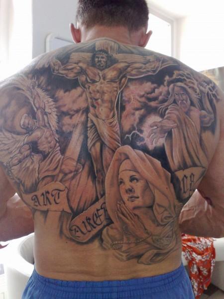 Teufel tattoo rücken engel Vorlagen Engel