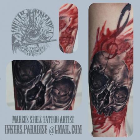 notenschlüssel-Tattoo: Inkers Paradise: Marcus