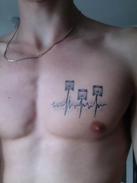 Kolben, EKG