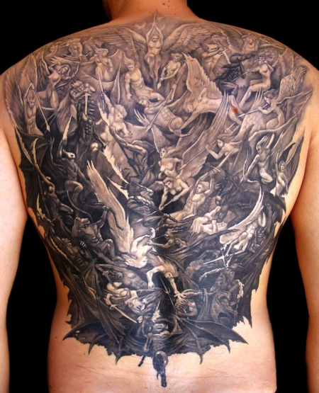 Godfathers Tattoo Nürnberg   Backpiece by NIKI MM