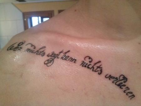 erstes tattoo, nachgestochen