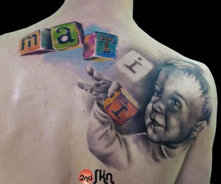 augen-Tattoo: Baby-Portrait by Paul