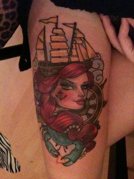 schiff-Tattoo: schiff...