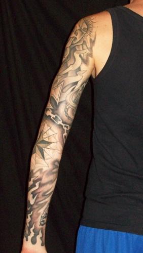 eddi black grey sleeve komplett teil 3 tattoos von. Black Bedroom Furniture Sets. Home Design Ideas