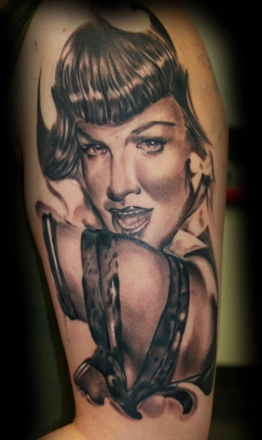 Tattoo Dresden, Constantin Ink Dresden, Betty Page in Progress !