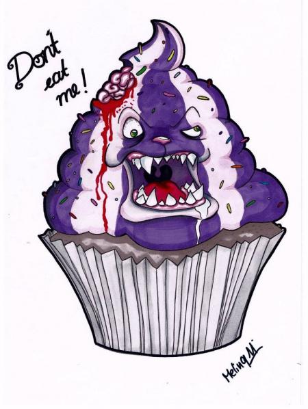 horror cupcake