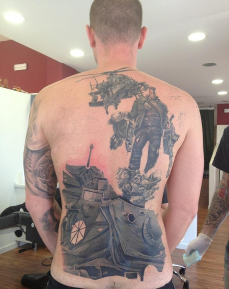 Terminator Backpiece - Still work in progress - by Alex de Pase