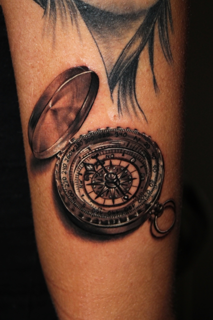 kompass-Tattoo: Kompass / Compass