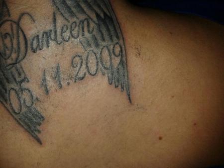 darleen2009 name meines kindes mit geb datum tattoos von tattoo. Black Bedroom Furniture Sets. Home Design Ideas