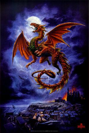 drachen-Tattoo: Drachen