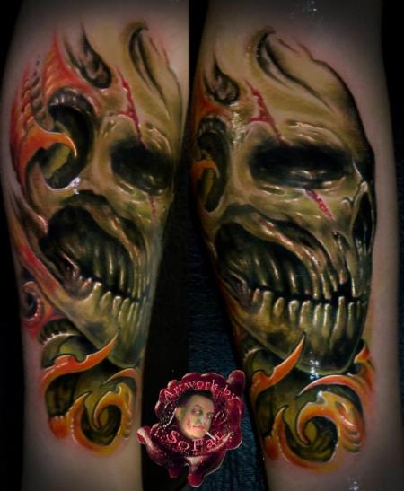 skull dings by SoFat