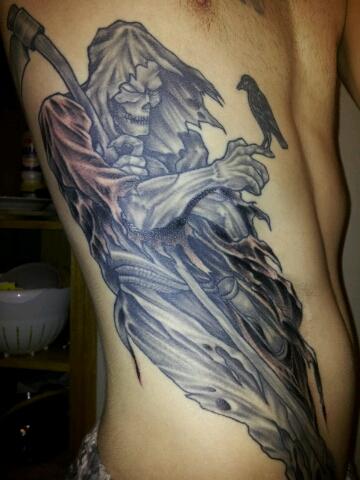 rabe-Tattoo: Grim Reaper
