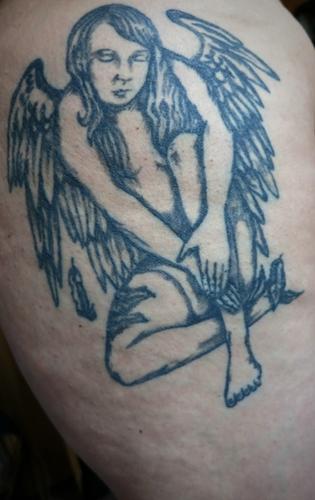 en trauriger Engel