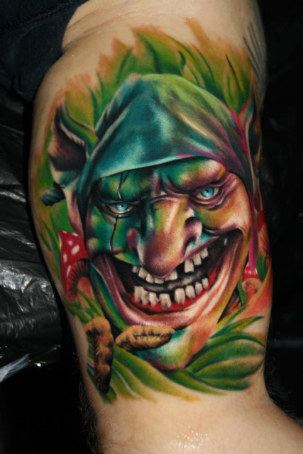 Fantasy-Gnom / Zwerg - Tattoo by Tibi