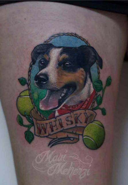 hund-Tattoo: Hund