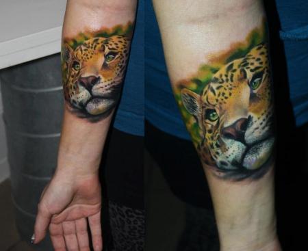 leopard-Tattoo: Leopard