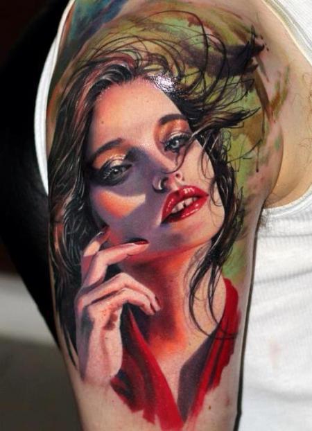 Sterne-Tattoo: like a model