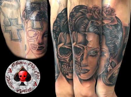 Cover Up Skull Girl