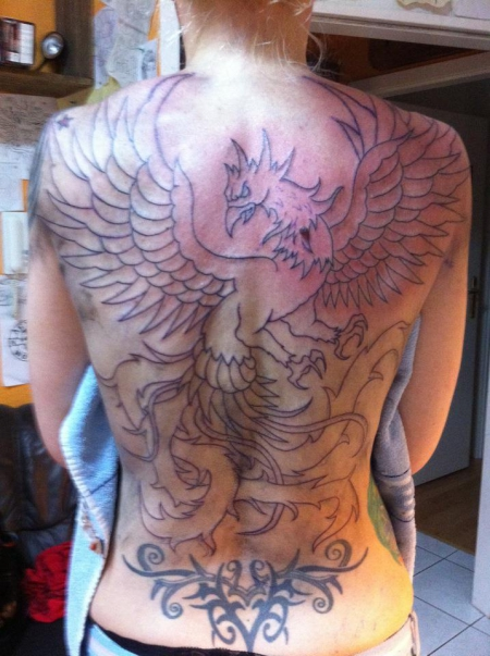 elfe-Tattoo: mein phönixprojekt:-)))