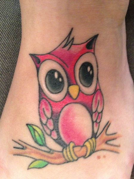 eule586 s e eule sweet owl fu feet tattoos von tattoo. Black Bedroom Furniture Sets. Home Design Ideas