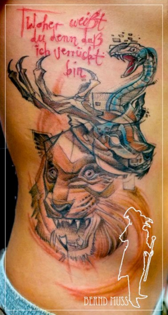 aurisch-Tattoo: sketchy