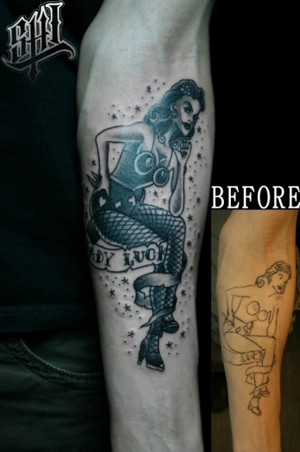 cover up pinup girl