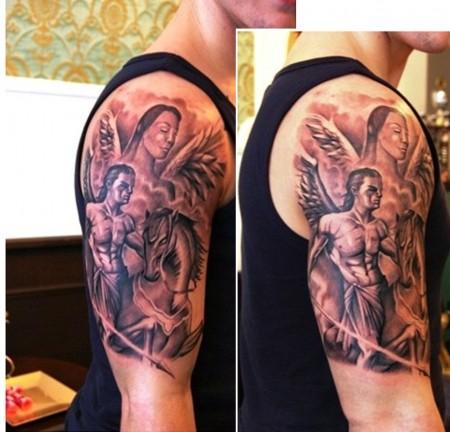 tattoos zum stichwort schutzengel tattoo lass deine tattoos bewerten. Black Bedroom Furniture Sets. Home Design Ideas