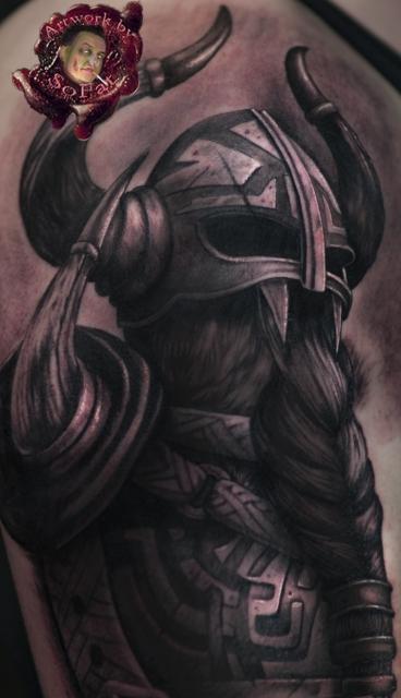 wikinger-Tattoo: wiki Lunatics Custom Tattoo by Sofat