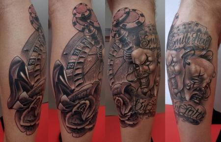 leg sleeve in progress