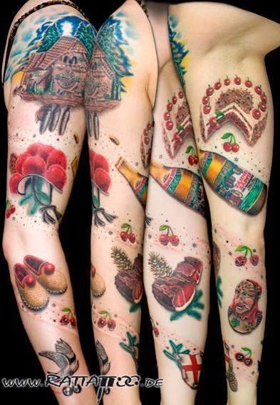 Heimat-Tattoo (Schwarzwald-Ärmel)