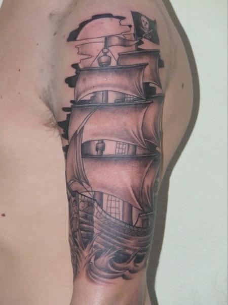 ship tattoos von tattoo. Black Bedroom Furniture Sets. Home Design Ideas