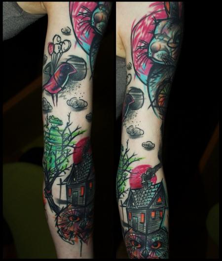sleeve-Tattoo: Bunter Sleeve (in progress)