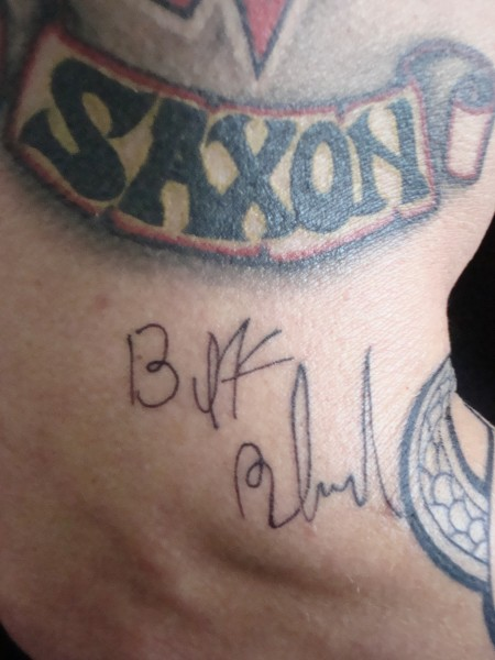 Original Signatur von Biff Byford - ( Frontman- Saxon )