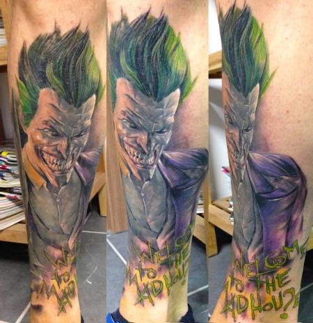 joker-Tattoo: Arkham Joker