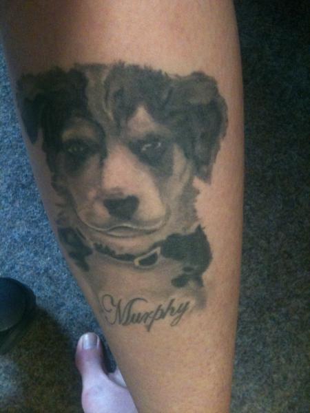 gsxrsandy mein hund an der wade tattoos von tattoo. Black Bedroom Furniture Sets. Home Design Ideas