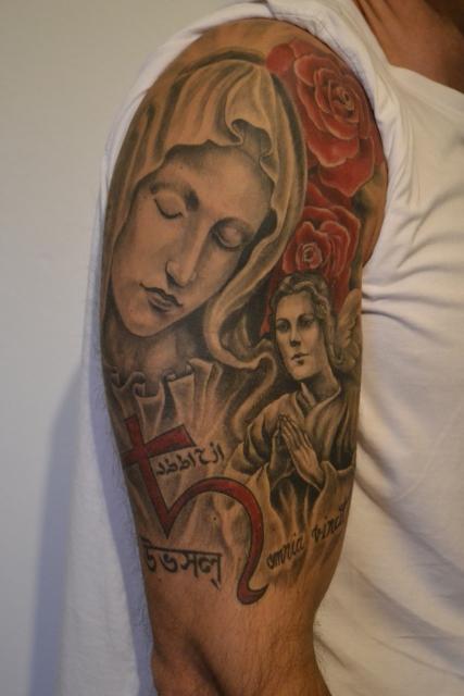 Pietà Madonna und Engel