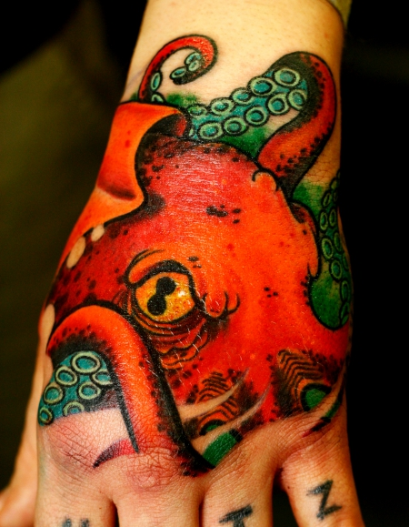 Octopuss Handtattoo