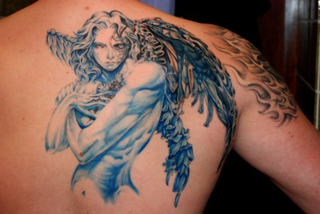 Engel-Tattoo: Blue Angel