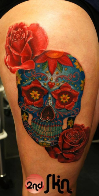 sugar-Tattoo: Skull by Gombi