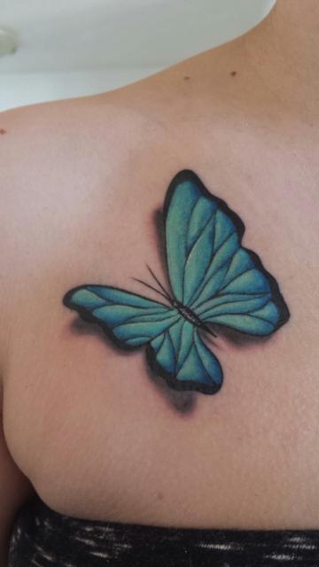 Dine91 3d Schmetterling Tattoos Von Tattoo Bewertung De