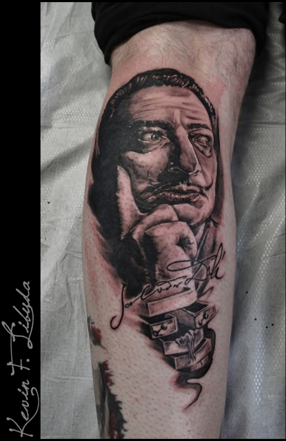 dali-Tattoo: Salvador Dali