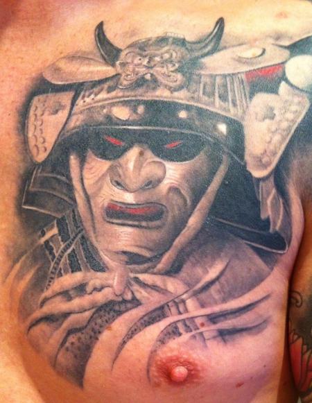 samurai-Tattoo: Hannya Maske eines Samurai