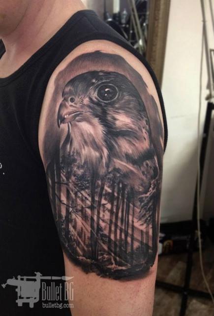 familie-Tattoo: Bullet BG - Falke